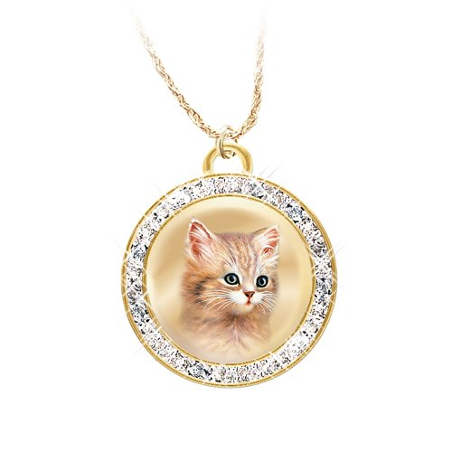 Jurgen Scholz A Cat Is A Friend Fur-Ever Pendant Necklace by The Bradford Exchange