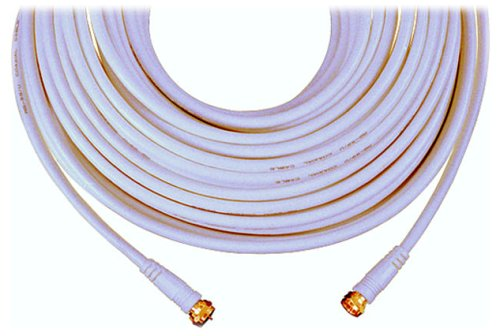 GE 23212 RG59 Coaxial Video Cable with F Plugs at Each End White 25 FeetB0000D88JU : image