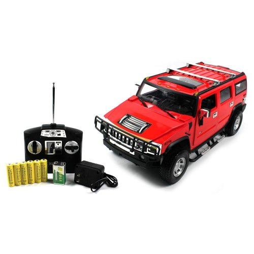 1:14 Scale Hummer H2 Suv Electric Rc Truck Rtr (Color: Red)