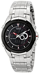 "Casio Men's EFA119BK-1AV ""Ana-Digi Edifice"" Stainless Steel Watch"