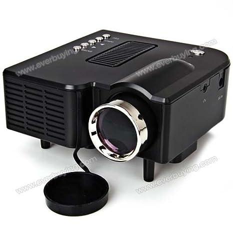 UC-40 24W Portable Mini Projecteur LCD avec 3-en-1 AV Input 1080P deux couleurs - noir