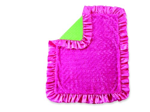 Little Sprout Minky Blanket, Pink/Green