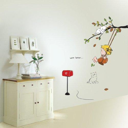 Modern House Baby Swing removable Vinyl Mural Art Wall Sticker Decal