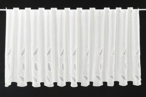 scheibengardinen mit ausbrenner blatt 60 cm hoch breite der gardine durch gekaufte menge in 15. Black Bedroom Furniture Sets. Home Design Ideas