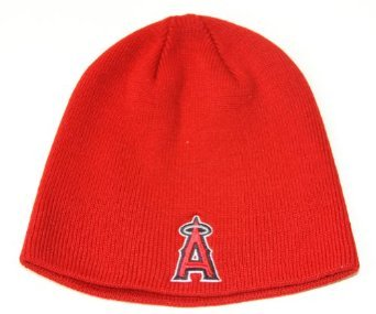 MLB Los Angeles Angels Basic Knit, Red, One Size