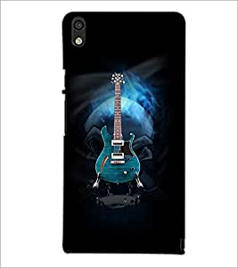 PrintDhaba Guitar D-3056 Back Case Cover for HUAWEI ASCEND P6 (Multi-Coloured)