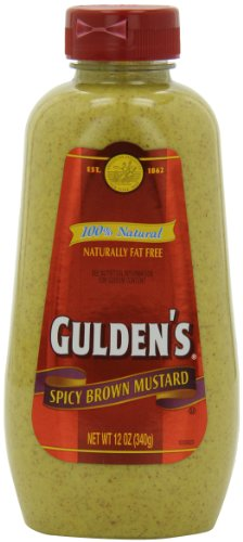 Gulden Spicy Brown Mustard, 12-Ounce Plastic Bottles (Pack of 12)