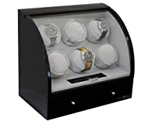 Pangaea Six Automatic Watch Winder for 6 Watches (Black) Q600