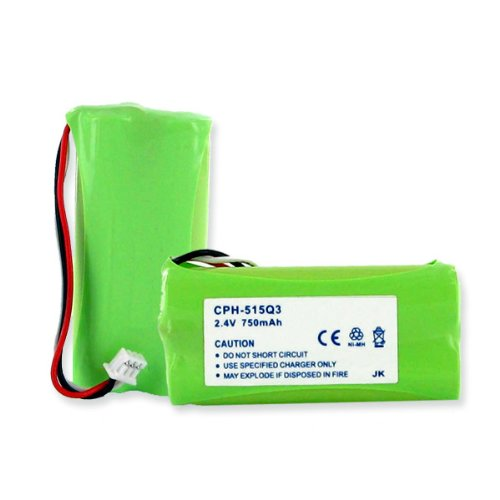 750mA, 2.4V Replacement Ni-MH Battery for Plantronics CT14 Cordless Phones - Empire Scientific #CPH-515Q3