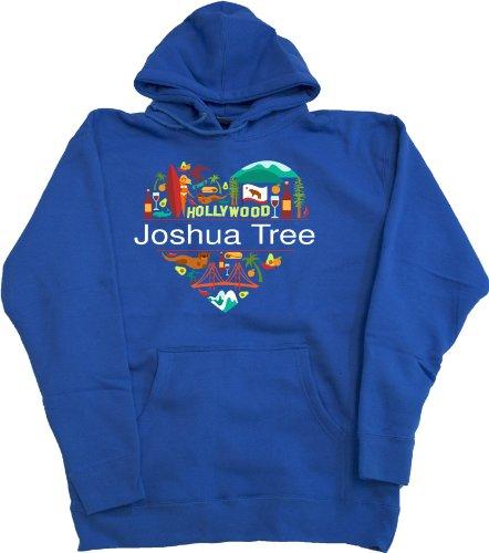 I Love Joshua Tree, Ca | California Pullover Fleece Hoody Sweatshirt-Medium