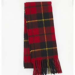 Wallace (Red) Tartan Lambswool Scarf