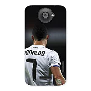 Radiant White Tshirt 7 Back Case Cover for HTC One X
