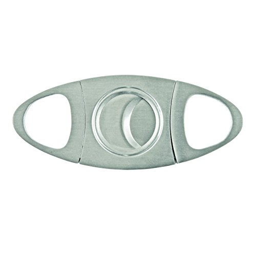 True Fabrications Traditional Stainless Steel, Double Blade, Easy To Use Cigar Cutter For All Size Cigars front-634707