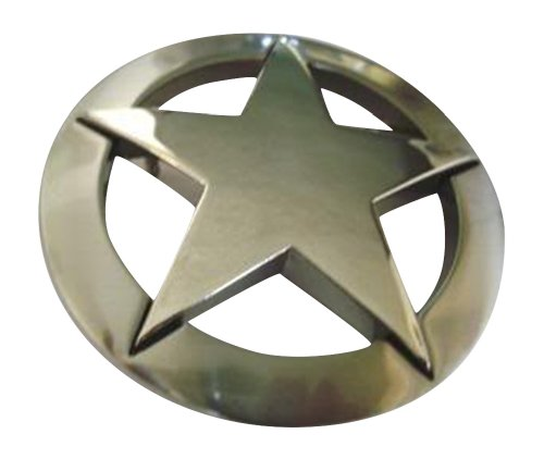 Famous Silver Marshall Law Texas Star Belt Buckle