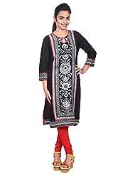 Aavran Women's Viscose Regular Fit Kurta - B015J5CL8E