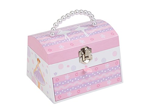 JewelKeeper Ballerina Musical Jewelry Box with Pulllout Drawer, Pearl Handle, Swan Lake Tune (Vintage Ballerina Jewelry Box compare prices)