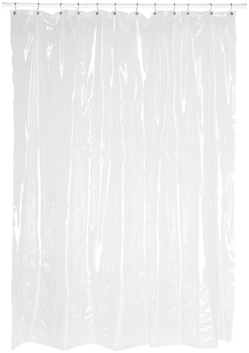 Carnation Home Fashions Super Clear 10-Gauge Anti Mildew Extra Long Vinyl Shower Curtain Liner, Size: 72