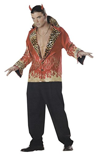 Mario Chiodo Mens Rock And Roll Elvis Vegas Demon Devil Halloween Party Costume