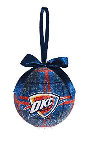 100Mm Led Ball Ornament, Oklahoma Thunder