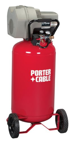 Porter-Cable CPFC2TV3525VP 15 Amp 3.5-Horsepower 25-Gallon Oil-Free Wheeled Vertical Compressor
