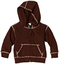 Mulberribush Baby-Boys Infant Cowboy French Terry Hoodie, Chocolate, 24 Months
