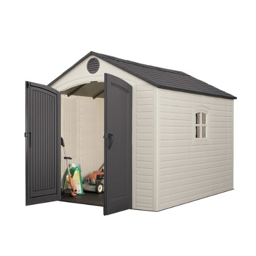 Lifetime 60005 8-by-10-Foot Outdoor Storage Shed