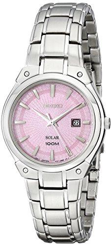 Seiko Women'S Sut127 Dress Solar Analog Display Japanese Quartz Silver Watch