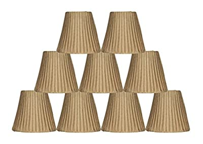Urbanest Box Pleated Mini Chandelier Lamp Shade, 5-inch, Softback, Clip On