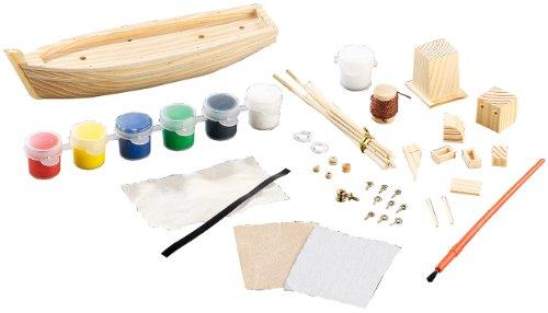 Playtastic-Schiff-Bausatz-Fischkutter-aus-Holz-40-Teile