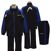 ジャージ キッズ HEAD(ヘッド) 2014SS トレーニングスーツ ハーフパンツ付き ジャージ上下 14131lh-16(ブラック)