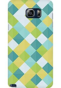 AMEZ designer printed 3d premium high quality back case cover for Samsung Galaxy Note 5 (Simple plaid )