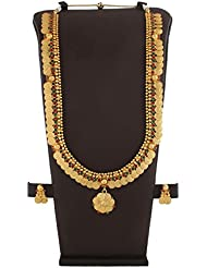 Anuradha Art Golden Finish Styled With Goddess Laxmi Coin Styled Traditional Long Necklace Set For Women/Girls