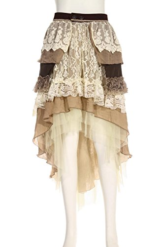 Steampunk-Victorian-Leona-Silversmith-Asymmetrical-Lace-Evening-Tiered-Skirt