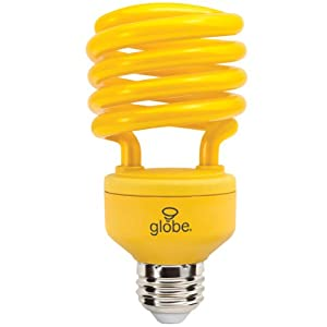 Globe Electric 57852 100 Watt Enersaver Cfl Bug Light Bulb Yellow Compact Fluorescent Bulbs