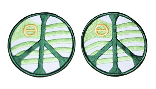 greenpeace-ecological-movement-iron-on-vintage-embroidered-patch-lot-of-2