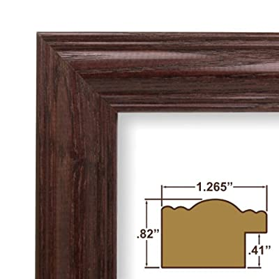 11x28 Custom Picture Frame / Poster Frame 1.265 Wide Complete Cherry Wood Frame (440CH)