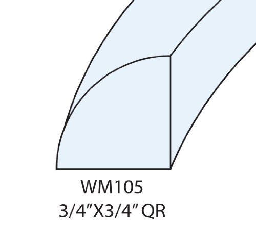 Flexible Moulding - Flexible Quarter Round Moulding - ZAGO 04 WM105 - 3/4