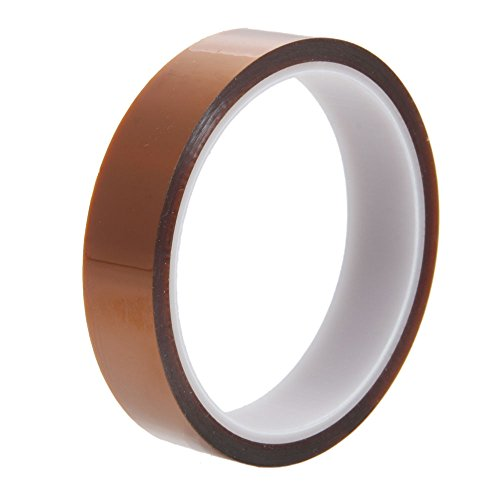 Olymstore(Tm) Roll Type 20Mm Width Industry High Temperature Heat Resistance Adhesive Tape Tawny