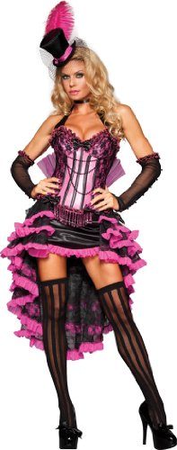 InCharacter Costumes Burlesque Beauty, Pink/Black, Medium