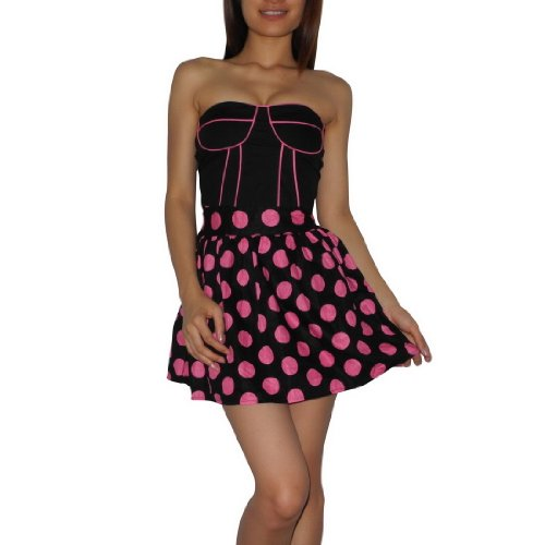 Womens Thai Exotic Sexy Strapless Casual / Clubwear / Night-Wear Mini Party Dress - Size: S-M