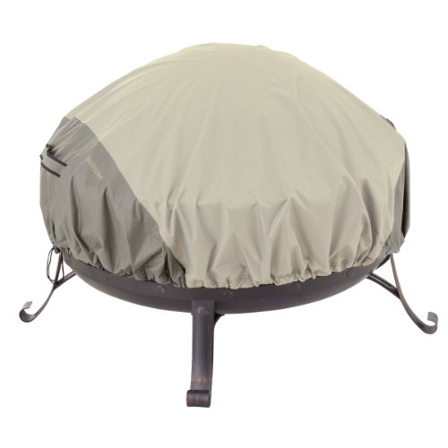 Classic Accessories 55-261-011001-00 Belltown Fire Pit Cover, Round, Grey