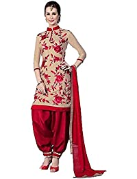 Jay Varudi Creation Women's Multi-Coloured American Crape Unstiched Printed Dress Material ( Salwar+Bottam+Duptta ) - B071H4BVNQ