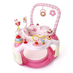 Baby Saucer Chair Bright Starts Pink Bounce About Activity Centre: Amazon.co.uk: Baby