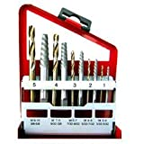 Neiko 10-Piece Alloy Screw Extractor Solid Cobalt Left Hand Drill Bits Set