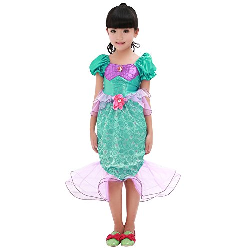 Amur Leopard Kids Halloween Party Costume Dress Little MerMaid Lolita XL