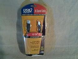 Belkin F3U133V10 PRO Series - USB cable - 4 pin USB Type A (M) - 4 pin USB Type B (M) - 10 ft ( USB / Hi-Speed USB ) - molded