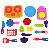 Banggood Kitchen Cookware Vegetable Fruit Set Kids Children Role Play Pretend Toy Kit