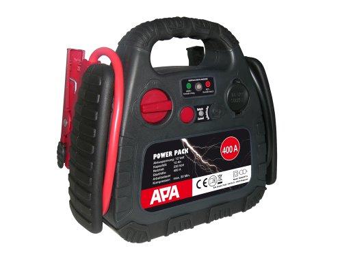 16540 Powerpak 400 mit Kompressor 18 Bar, 400 A Starthilfe aufladbar mit 230 V Netzteil oder Zigarettenanzünder