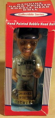 Ichiro 2001 Rookie of the Year Bobble Head Doll - 1