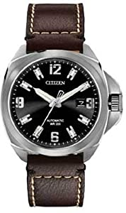 Citizen Men's NB0070-06E Grand Touring Signature Automatic Brown Leather Strap Watch